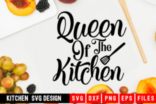 Download Free Queen Of The Kichen Graphic By Designdealy Com Creative Fabrica for Cricut Explore, Silhouette and other cutting machines.