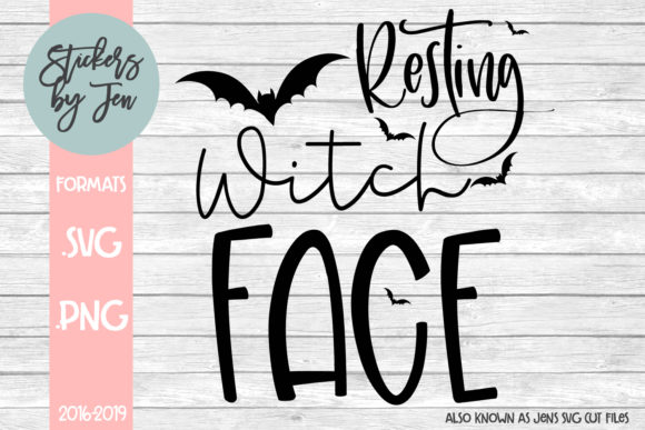 Download Free Resting Witch Face Graphic By Jens Svg Cut Files Creative Fabrica for Cricut Explore, Silhouette and other cutting machines.