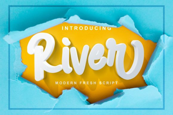 Print on Demand: River Script & Handwritten Font By Ian Mikraz