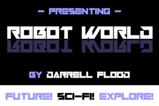Robot World Font By Dadiomouse