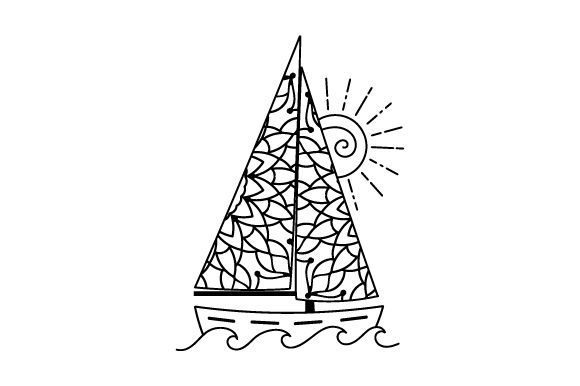 Download Free Sailboat In Sea Mandala Style Svg Cut File By Creative Fabrica for Cricut Explore, Silhouette and other cutting machines.