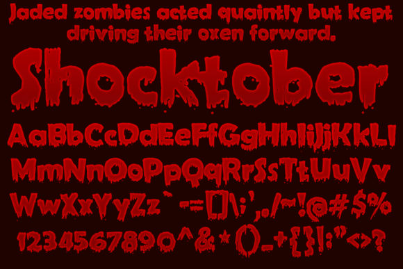 Print on Demand: Shocktober Decorative Font By jeffbensch - Image 2