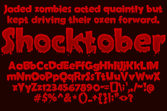 Print on Demand: Shocktober Decorative Font By jeffbensch - Image 1