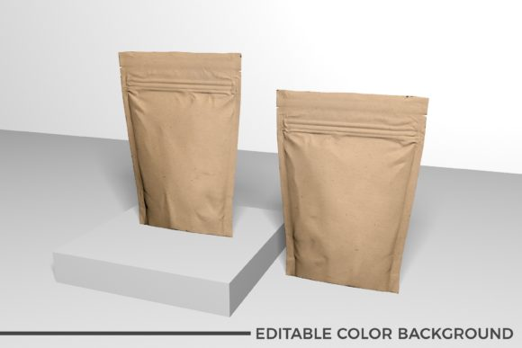 Showcase Paper Food Pouch Mockup Graphic Product Mockups By nopxcreative