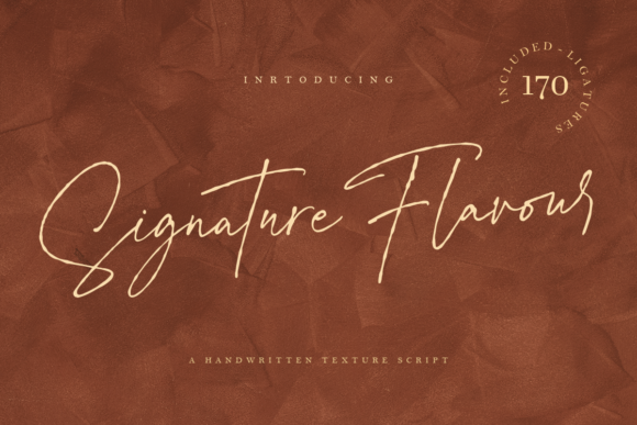 Print on Demand: Signature Flavour Script & Handwritten Font By Geranium.co
