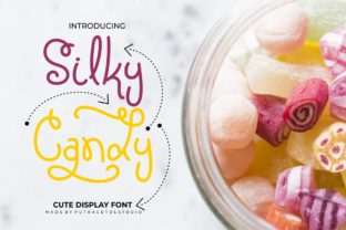 Print on Demand: Silky Candy Display Font By putracetol
