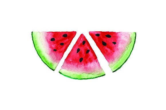 Sliced Watermelon - Watercolor Style Food & Drinks Craft Cut File By Creative Fabrica Crafts