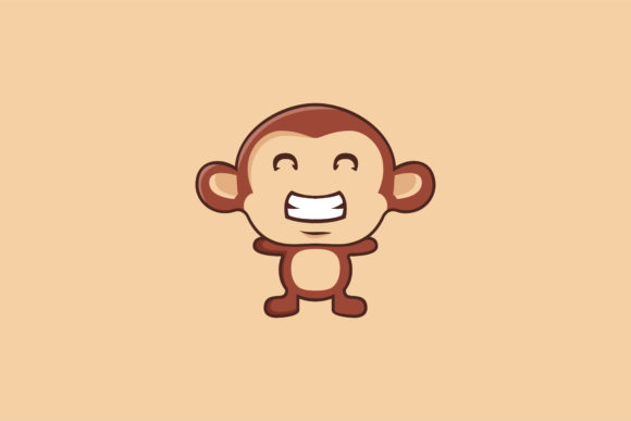 Download Free Smile Monkey Illustration Logo Graphic By Noory Shopper for Cricut Explore, Silhouette and other cutting machines.