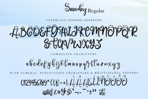 Print on Demand: Snowby Display Font By thomasaradea - Image 6
