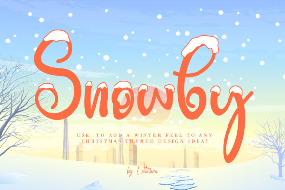 Print on Demand: Snowby Display Font By thomasaradea - Image 1