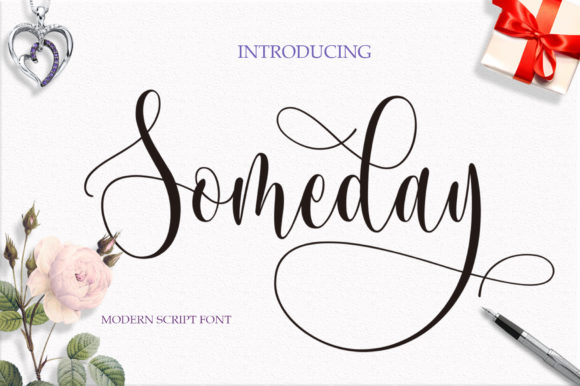 Print on Demand: Someday Script & Handwritten Font By Byuly Ayika - Image 1