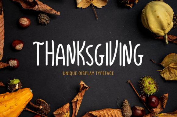 Print on Demand: Thanksgiving Display Font By Instagram Fonts