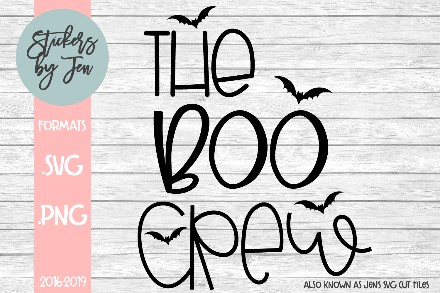 Download Free The Boo Crew Graphic By Stickers By Jennifer Creative Fabrica for Cricut Explore, Silhouette and other cutting machines.