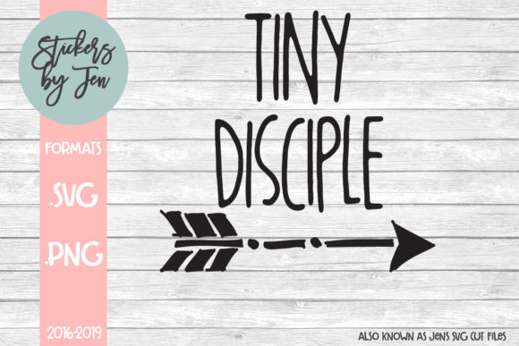 Download Free Tiny Disciple Graphic By Stickers By Jennifer Creative Fabrica for Cricut Explore, Silhouette and other cutting machines.