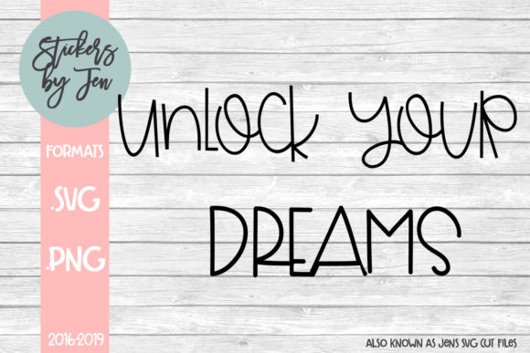 Download Free Unlock Your Dreams Graphic By Jens Svg Cut Files Creative Fabrica for Cricut Explore, Silhouette and other cutting machines.