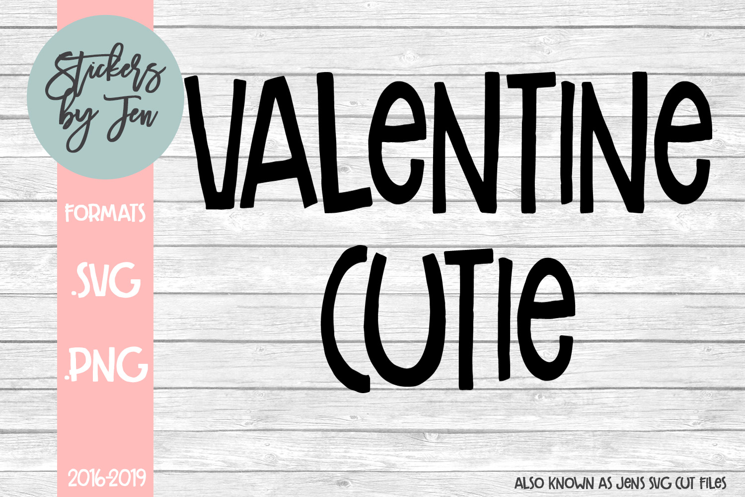 Download Free Valentine Cutie Graphic By Stickers By Jennifer Creative Fabrica for Cricut Explore, Silhouette and other cutting machines.