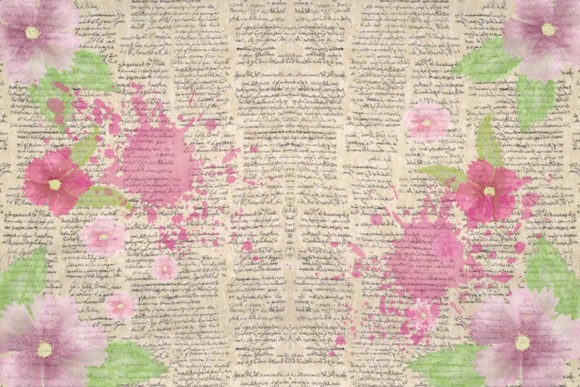 Print on Demand: Watercolour Garden Backgrounds Graphic Backgrounds By The Paper Princess - Image 2
