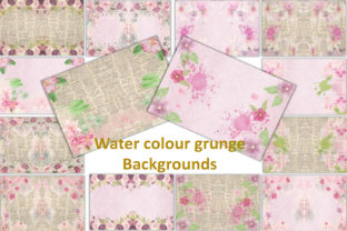 Watercolour Garden Backgrounds Graphic By The Paper Princess