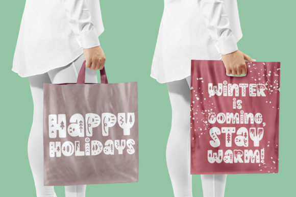 Print on Demand: Winter Holidays Display Font By Caoca Studios - Image 4