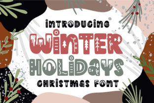 Winter Holidays Font By Caoca Studios