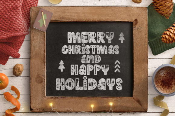 Print on Demand: Winter Holidays Display Font By Caoca Studios - Image 5