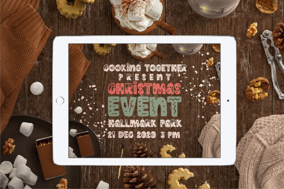 Print on Demand: Winter Holidays Display Font By Caoca Studios - Image 6
