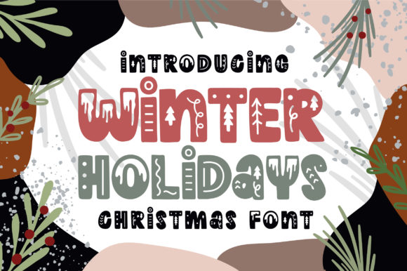 Print on Demand: Winter Holidays Display Font By Caoca Studios
