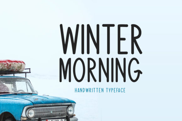 Print on Demand: Winter Morning Script & Handwritten Font By Shattered Notion
