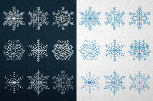 9 Snowflakes Graphic By Agor2012
