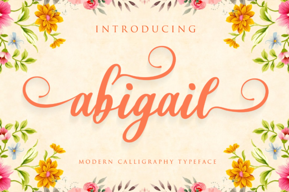 Print on Demand: Abigail Script Script & Handwritten Font By fanastudio