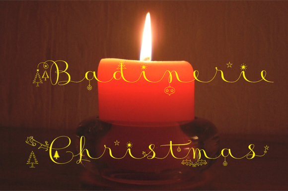 Print on Demand: Badinerie Christmas Decorative Font By JBFoundry - Image 1