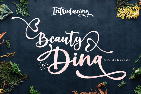 Print on Demand: Beauty Dina Script & Handwritten Font By aldedesign