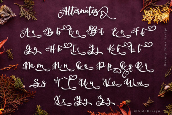 Print on Demand: Beauty Dina Script & Handwritten Font By aldedesign - Image 8