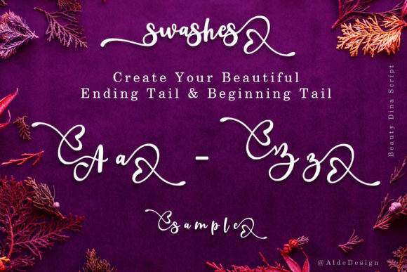 Print on Demand: Beauty Dina Script & Handwritten Font By aldedesign - Image 9