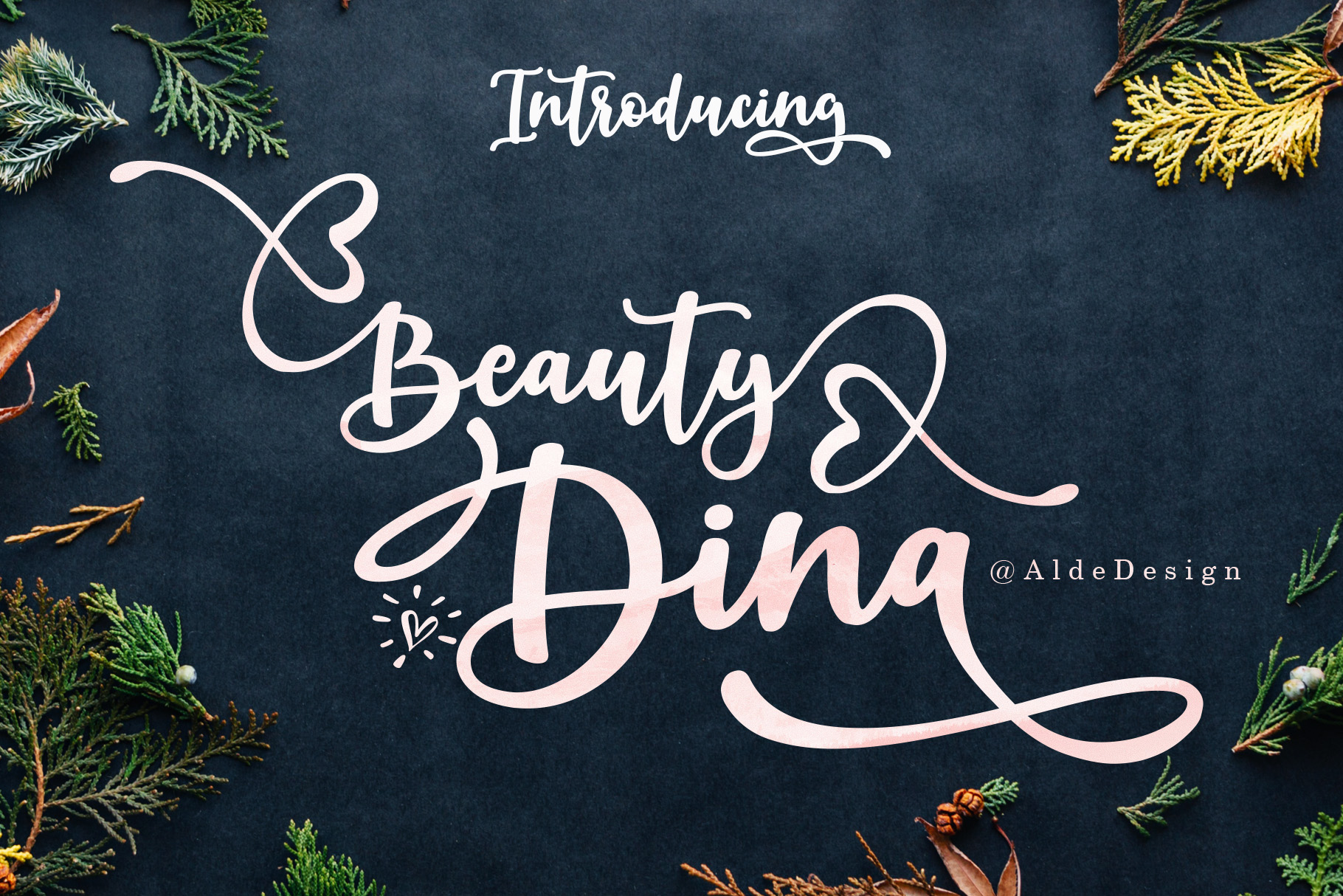 Download Free Beauty Dina Font By Aldedesign Creative Fabrica for Cricut Explore, Silhouette and other cutting machines.
