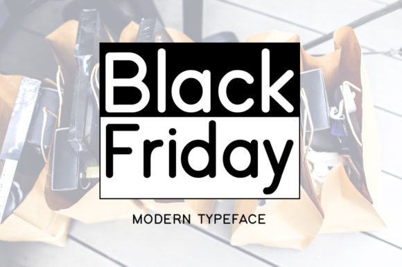 Print on Demand: Black Friday Display Font By FontEden