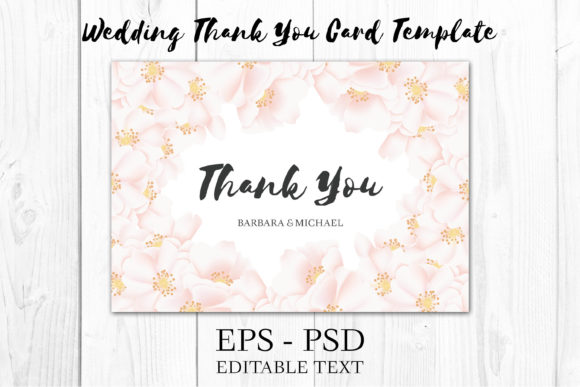 Download Free Jasmine Floral Thank You Card Template Graphic By Elsabenaa for Cricut Explore, Silhouette and other cutting machines.