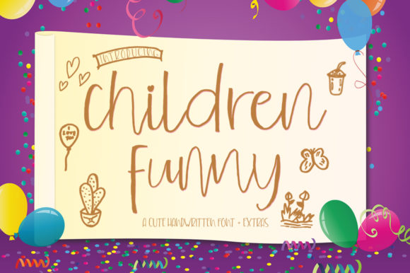 Download Free Children Funny Font By Delishadesign Font Creative Fabrica for Cricut Explore, Silhouette and other cutting machines.