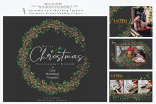 Christmas Photo Card Mockup Template Graphic By 3Motional