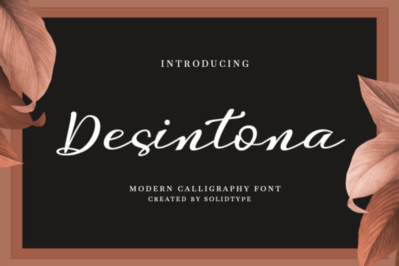 Print on Demand: Desintona Script Script & Handwritten Font By Solidtype