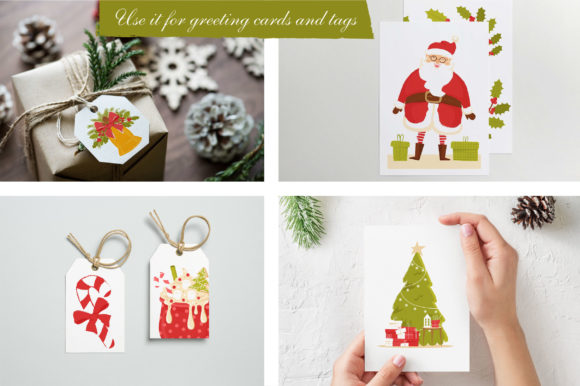 Print on Demand: Christmas Feeling 80 Elements Graphic Illustrations By KatiaZhe - Image 3