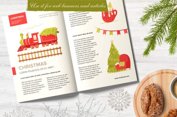 Print on Demand: Christmas Feeling 80 Elements Graphic Illustrations By KatiaZhe - Image 4