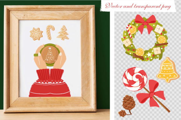 Print on Demand: Christmas Feeling 80 Elements Graphic Illustrations By KatiaZhe - Image 5