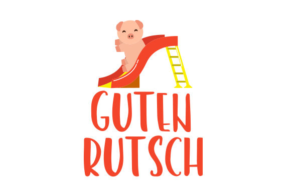 Download Free Guten Rutsch Svg Cut File By Creative Fabrica Crafts Creative for Cricut Explore, Silhouette and other cutting machines.