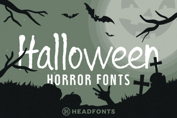 Print on Demand: Halloween Duo Display Font By Headfonts - Image 1