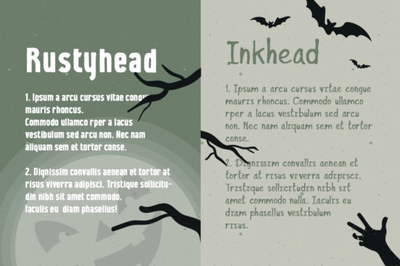 Print on Demand: Halloween Duo Display Font By Headfonts - Image 9