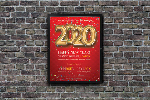 Happy New Year 2020 Poster Graphic Print Templates By Skull and Rose - Image 2