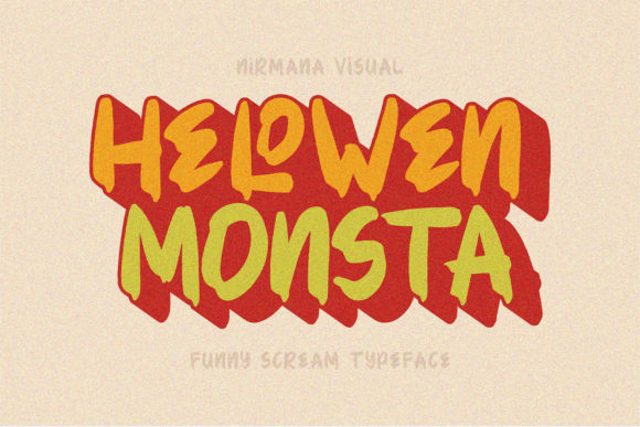 Print on Demand: Helowen Monsta Display Font By Sigit Dwipa