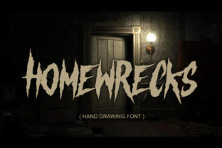 Print on Demand: Homewrecks Blackletter Font By fluffyartstudio