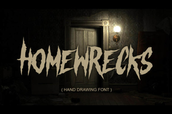 Print on Demand: Homewrecks Blackletter Font By fluffyartstudio - Image 1